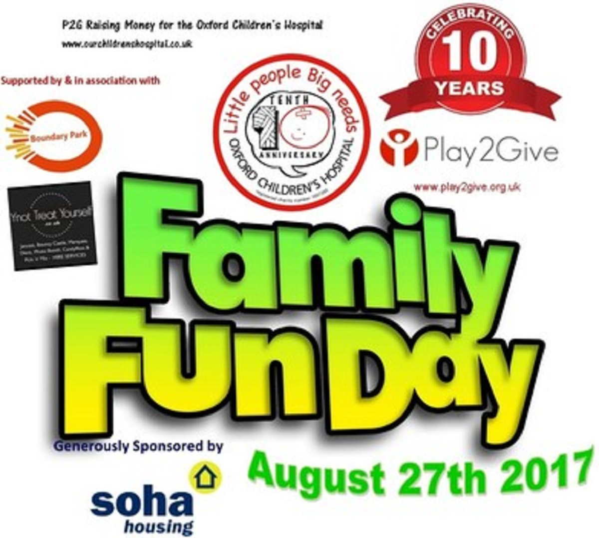 Play2Give's Fun Day – 27th August