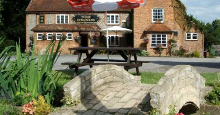 The Three Horseshoes, a friendly village pub with a beer garden and play area