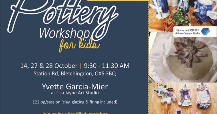 Pottery Workshop For Kids – 27th & 28th October