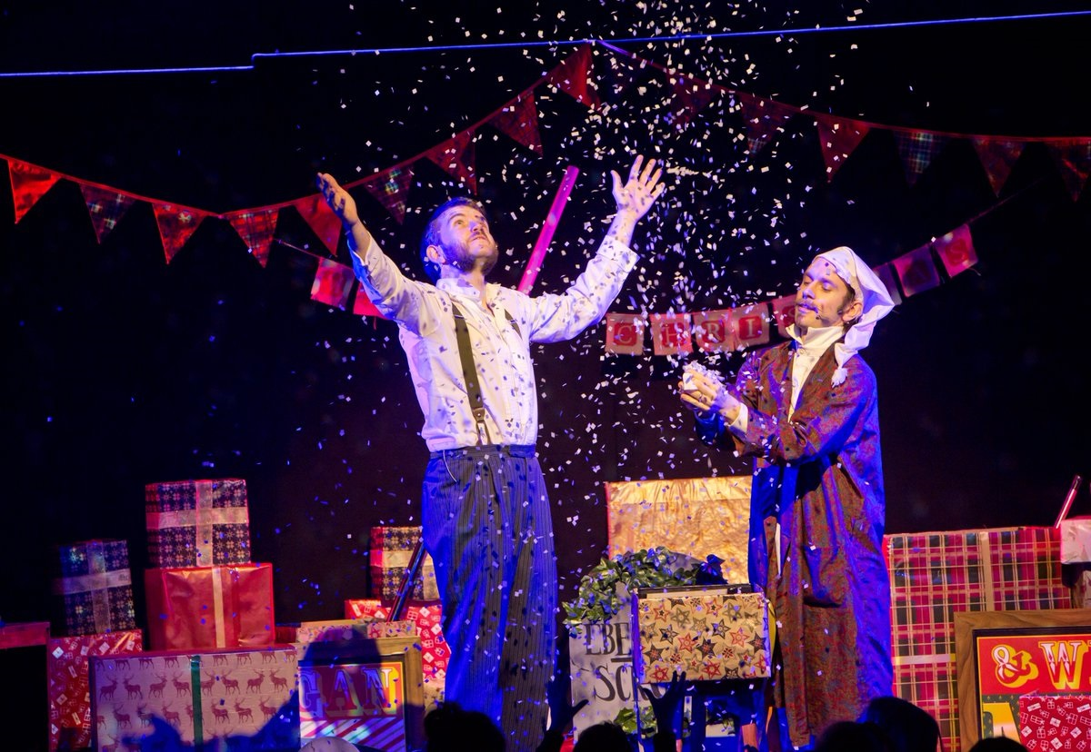 Morgan and West!  A (sort of ) Christmas Carol Magic Show!