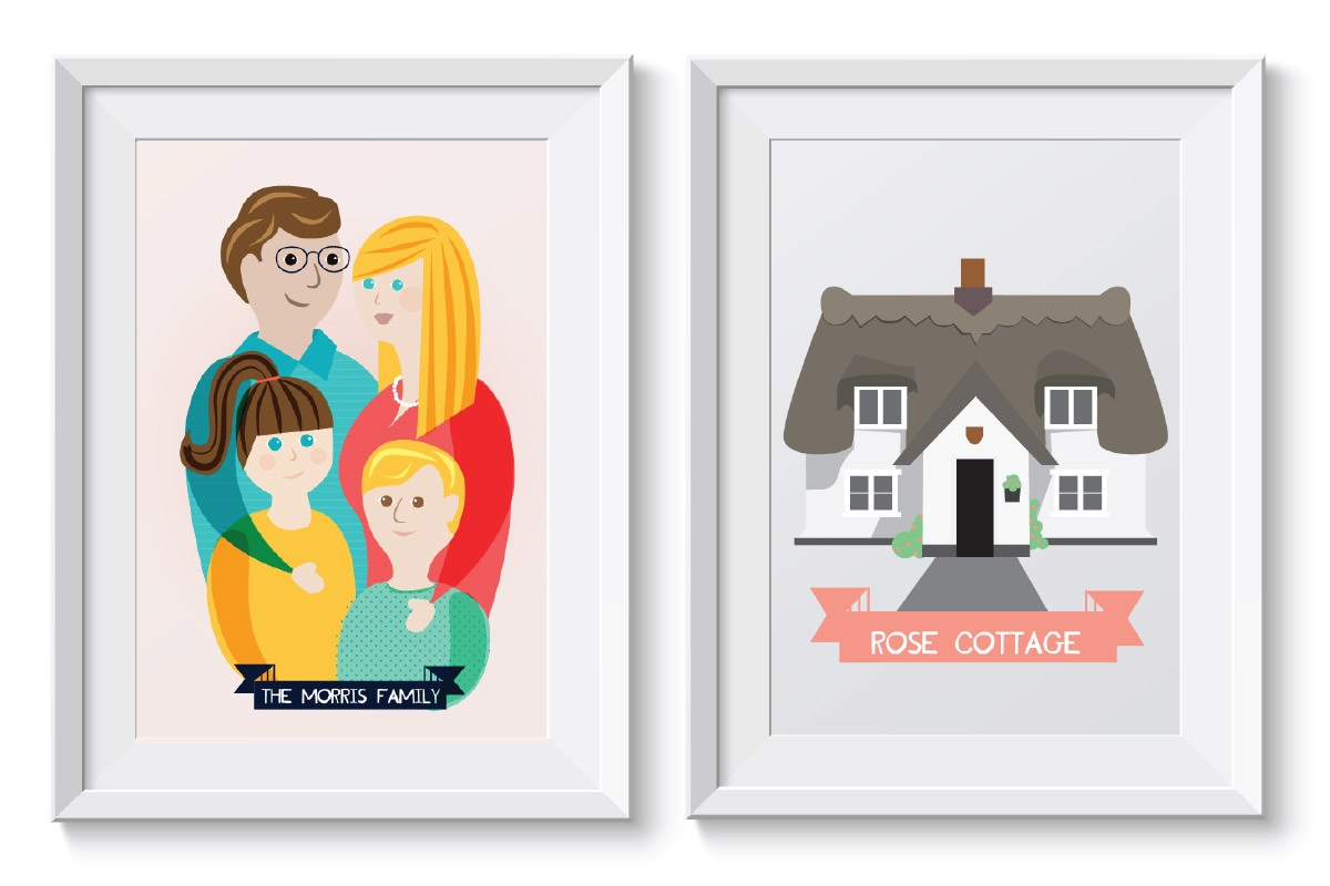 Family Portrait – A Great Personalised Christmas Gift