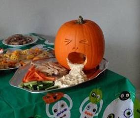 vomiting pumpkin halloween recipe