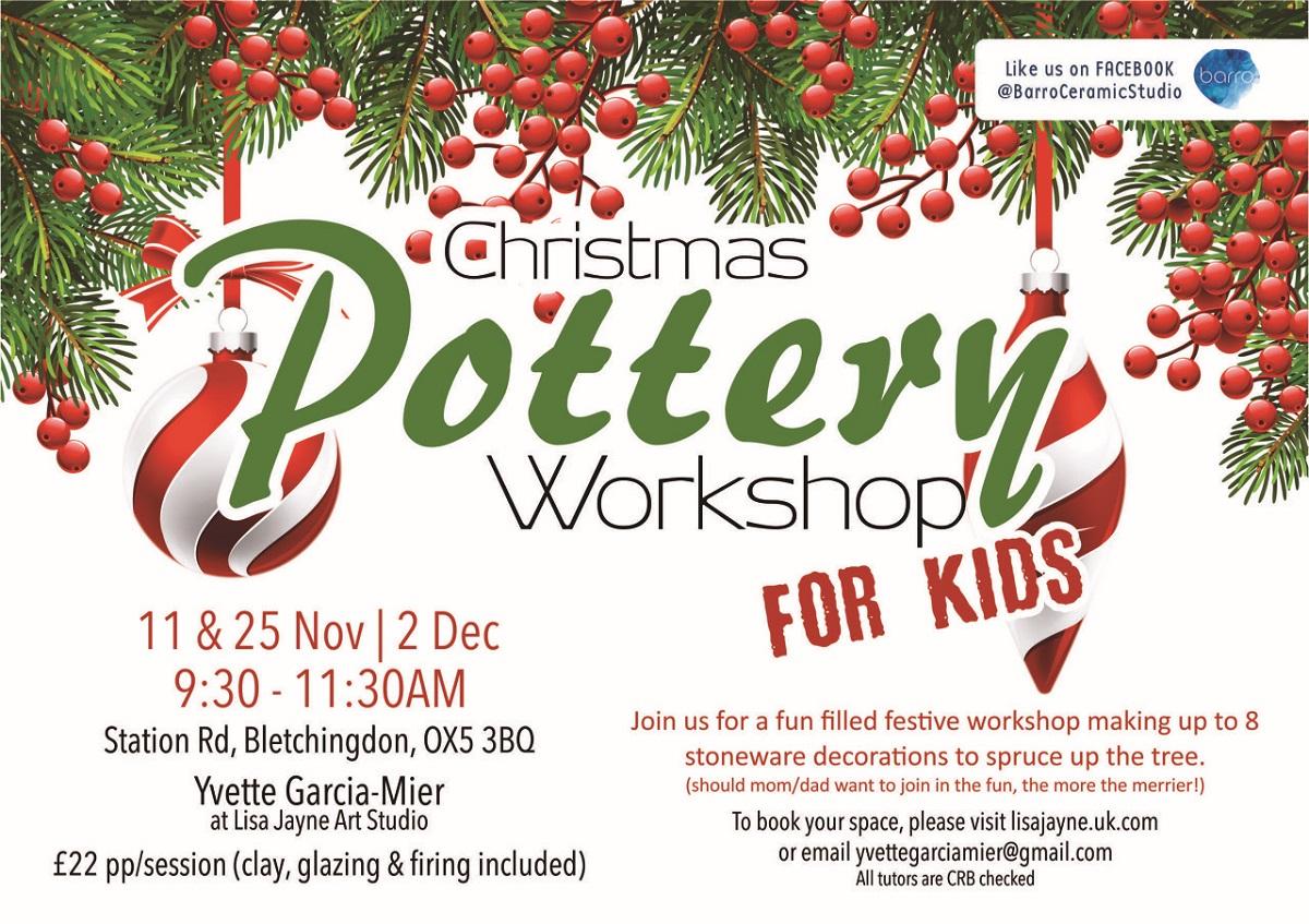 Christmas Pottery Workshops for Children