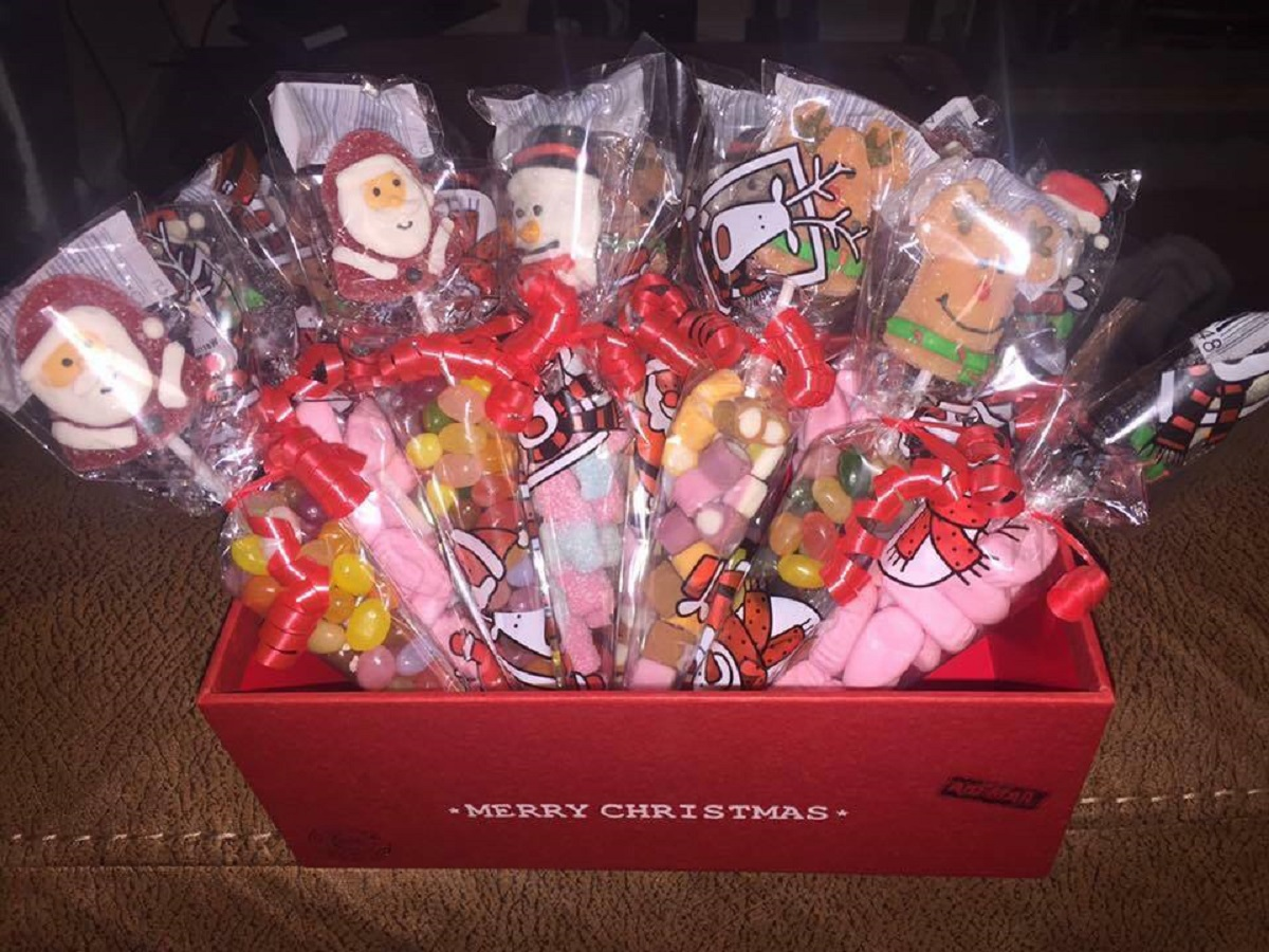 Sweet cones, hampers, tower of treats and other gifts