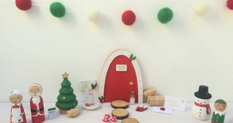 Super cute Christmas Elf doors by Follow the Rainbow