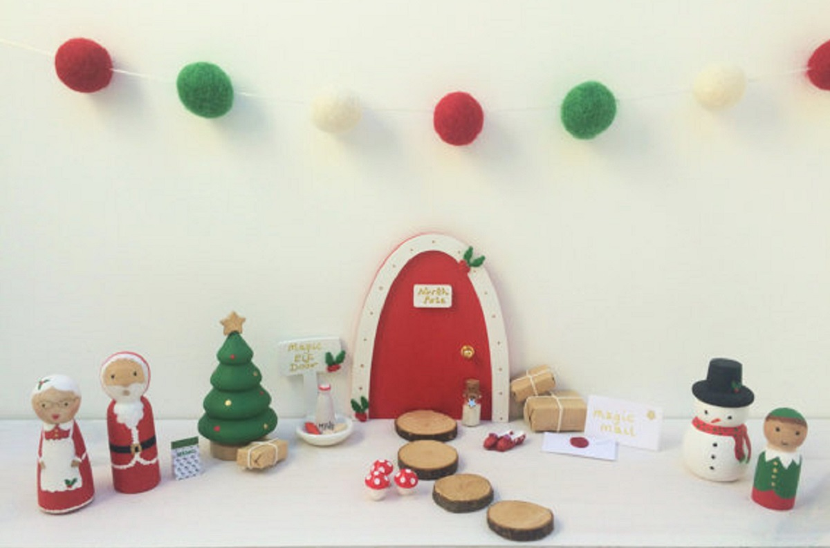 Super cute Christmas Elf doors by Follow the Rainbow