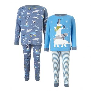 winter animal pyjamas