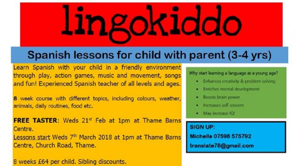 Parent & Child Spanish Lessons Launching in Thame with Free Tasters