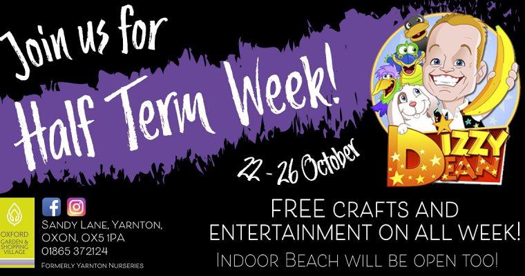 October Half Term Entertainment at The Oxford Garden & Shopping Village
