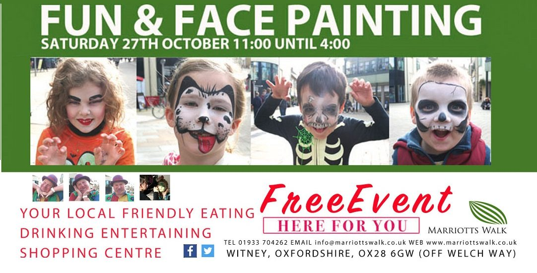 Fun and Face Painting at Marriotts Walk